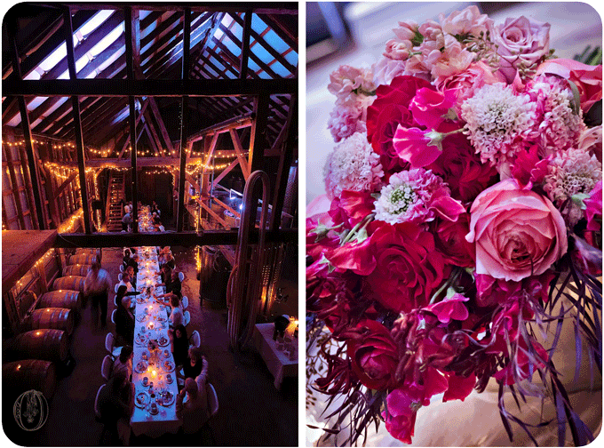 Unionville-Vineyards-NJ-Rustic-Wedding-Event-Venue-Farm-Table-Pink-Red-Garden-Rose-Sweet-Pea-Japanese-Scabiosa-Ombre-Bouquet-Oleander-Bucks-County-New-Jersey-Wedding-Florist-Floral-Design-Events