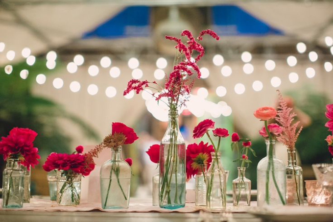 Bohemian-Ombre-Summer-Gold-Pink-Coral-Rustic-Barn-Wedding-Vintage-Glass-Bottle-Centerpiece-BHLDN-Anthropologie-Dress-Sweets-Dessert-Table-Terrain-Styers-PA-Lauren-Fair-Oleander-Bucks-County-PA-Philadelphia-Wedding-Florist-Floral-Event-Design-2