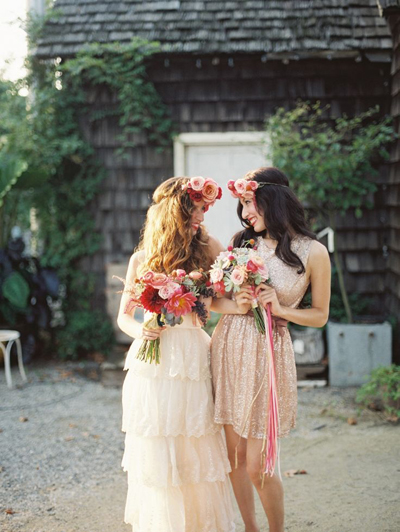 Bohemian-Ombre-Summer-Gold-Pink-Peach-Garden-Rose-Succulent-Rananculus-Bouquet-Rustic-BHLDN-Anthropologie-Gold-Dress-Flower-Wall-Floral-Hair-Crown-Terrain-Styers-PA-Lauren-Fair-Oleander-Bucks-County-PA-New-Jersey-Wedding-Florist-Event-Floral-Design