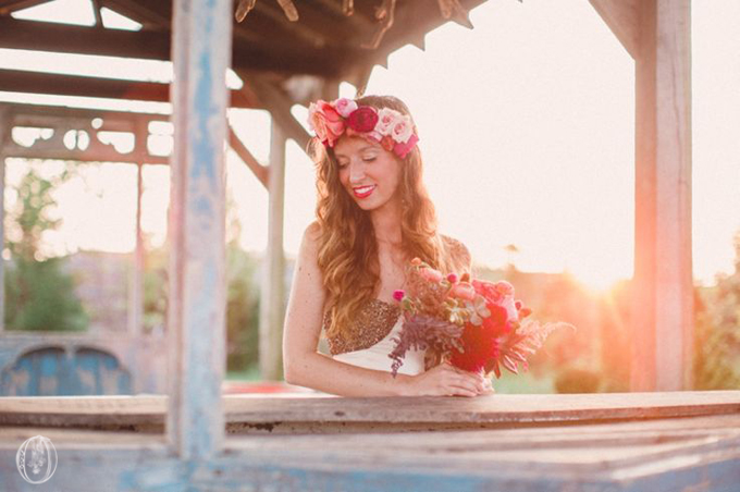 Bohemian-Ombre-Summer-Gold-Pink-Peach-Rustic-Greenhouse-Wedding-BHLDN-Anthropologie-Dress-Flower-Wall-Floral-Hair-Crown-Terrain-Styers-PA-Lauren-Fair-Photography-Oleander-Bucks-County-PA-Philadelphia-Wedding-Florist-Floral-Design-Events