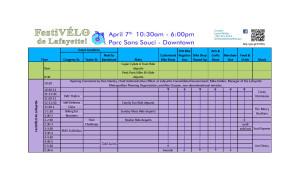 FestiVELO Schedule