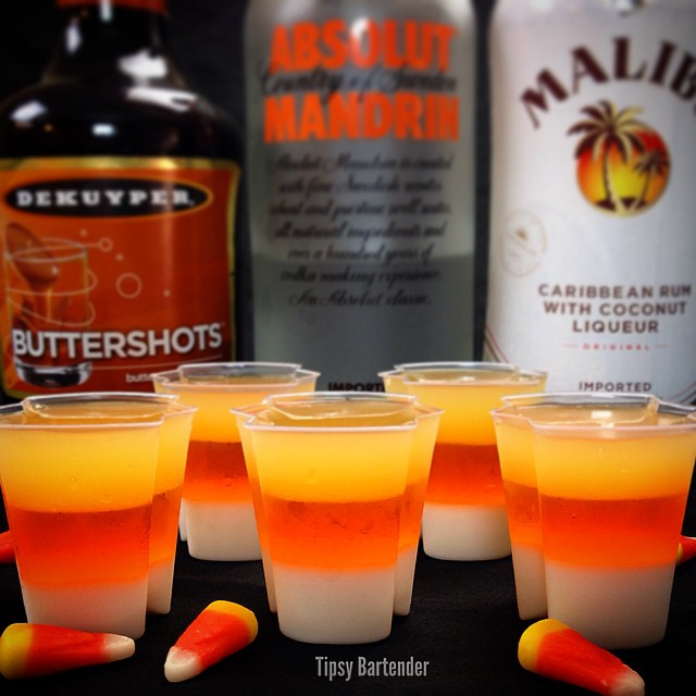 Halloween Inspired Drinks - Sweet candy corn drinks and more!