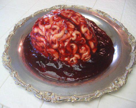 Brains Pena Cotta Ala Pomegranate Sauce - Ingredients:1 cup milk...