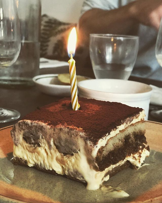 Birthdays made extra special with tiramisu. #birthdays #hackney #hackneyrestaurant #hackneyfood