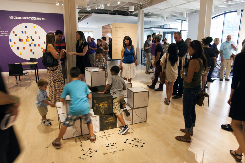 The cubes were another interactive part of the exhibition, visitors moved them around to make new shapes.