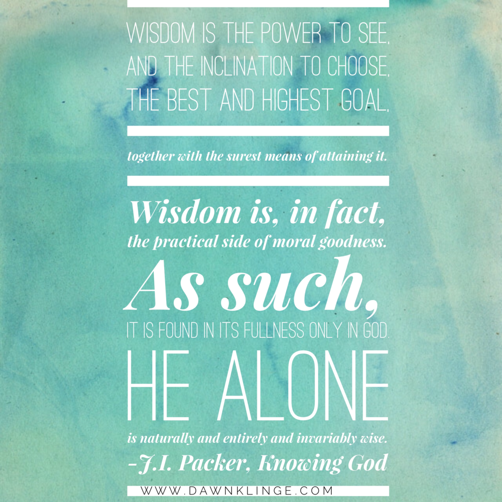 J.I Packer- wisdom