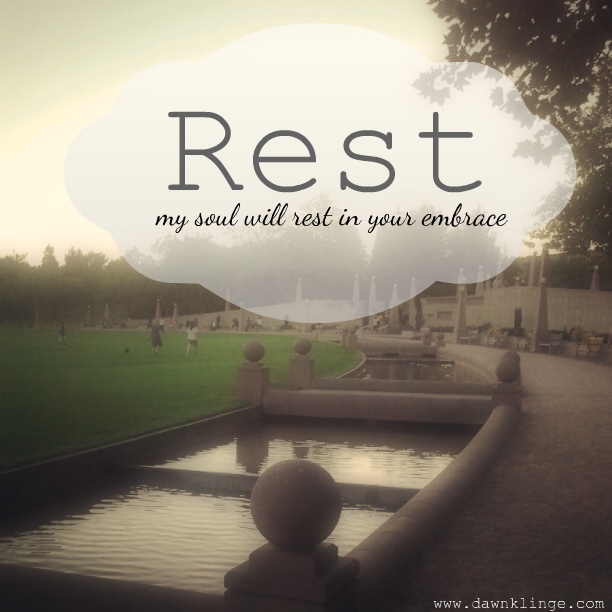 my soul will rest in his embrace dawn klinge