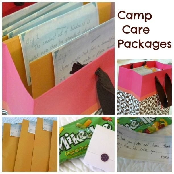 camp care package- free printable