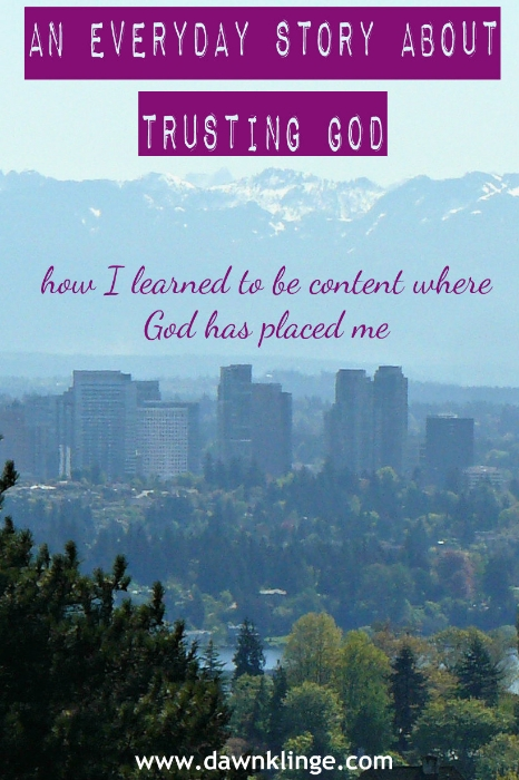 how I learned to be content where God has placed me