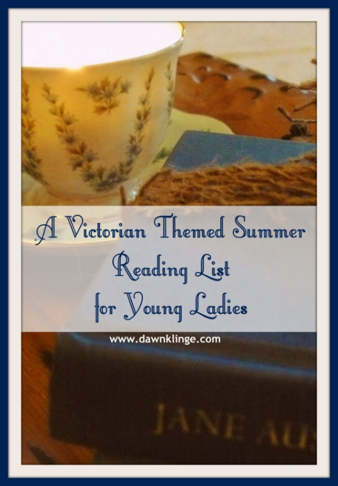 a Victorian themed summer reading list for young ladies