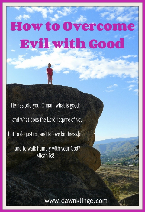 how to overcome evil with good
