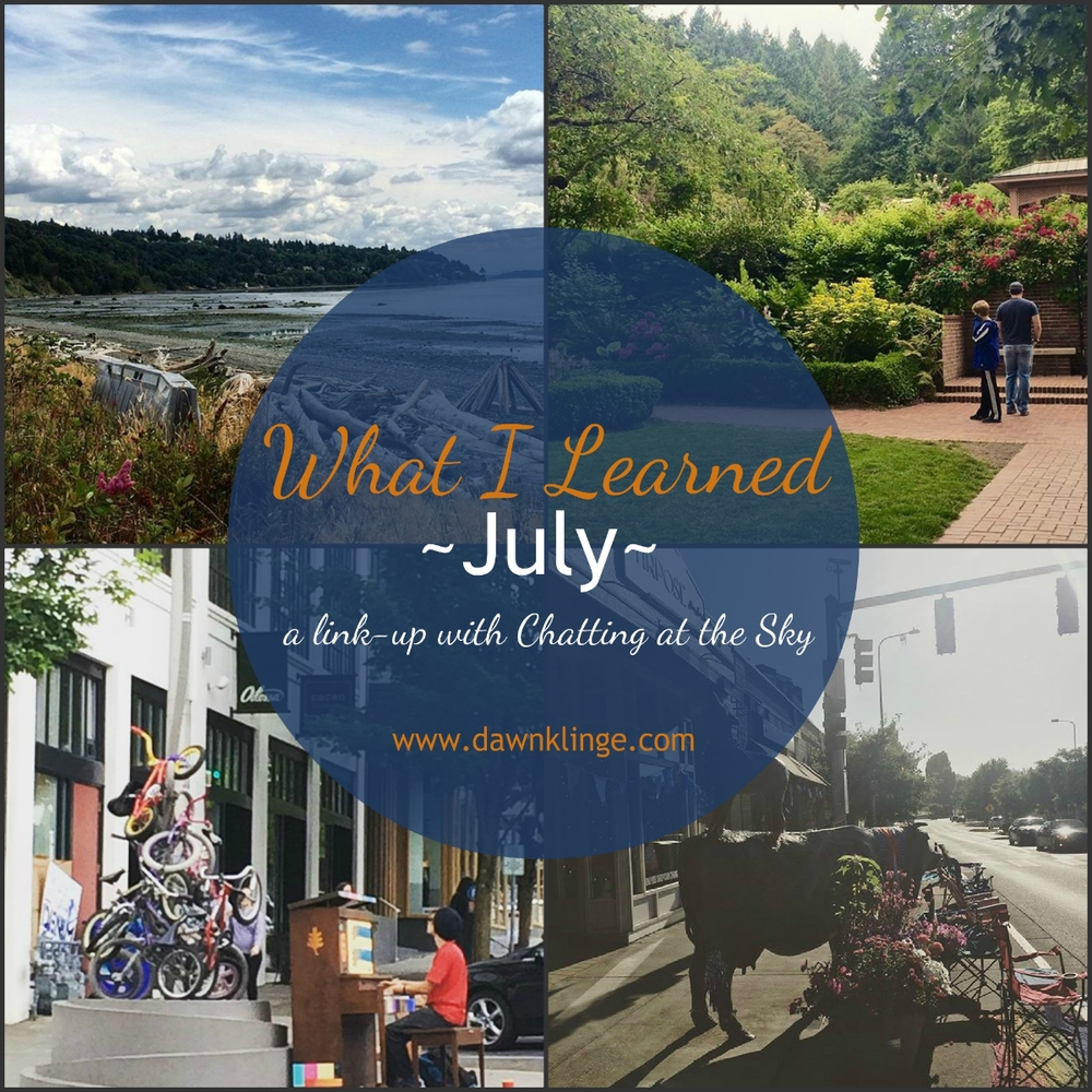 what I learned- July