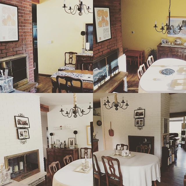 Top pictures are Beofre. Bottom Pictures are After- dining room side