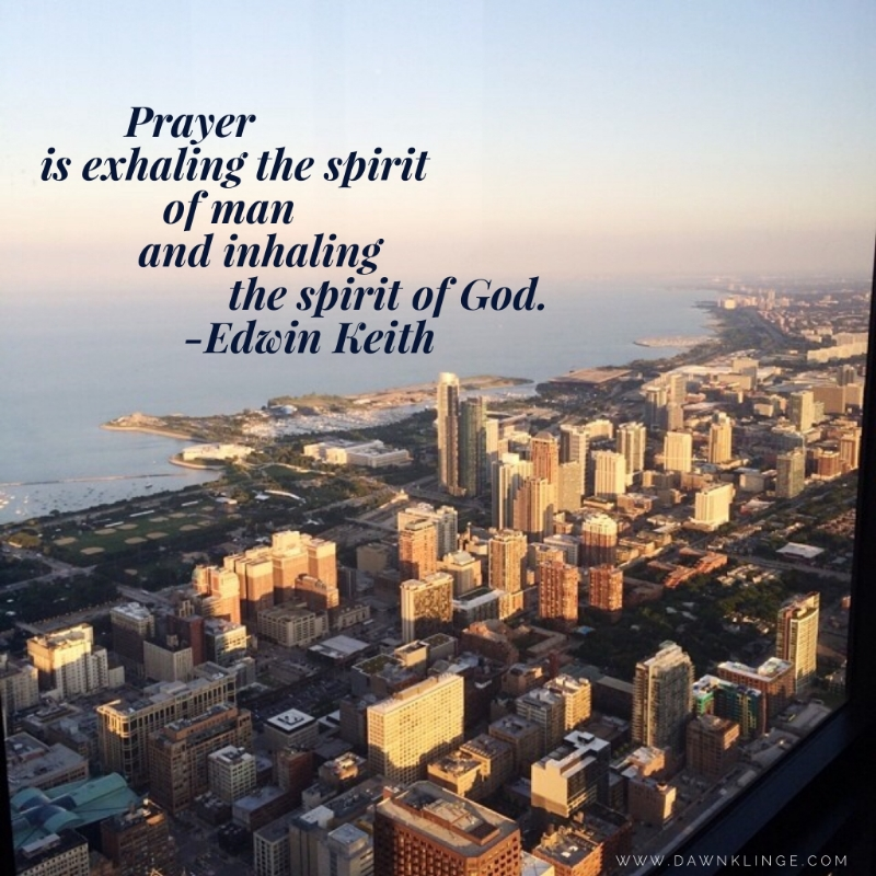 Prayer is exhaling the spirit of man and inhaling the spirit of God. ~ Edwin Keith
