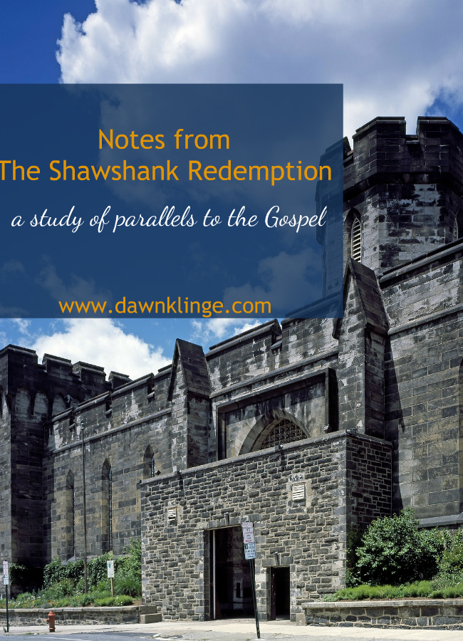 Notes from The Shawshank Redemption: a study of parallels to the Gospel