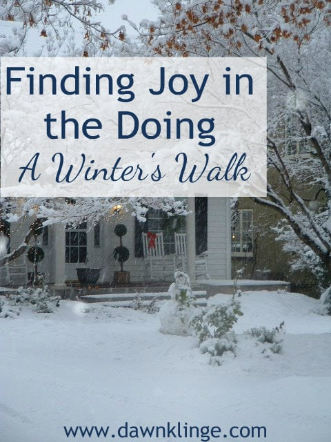 Finding Joy in the Doing- a story