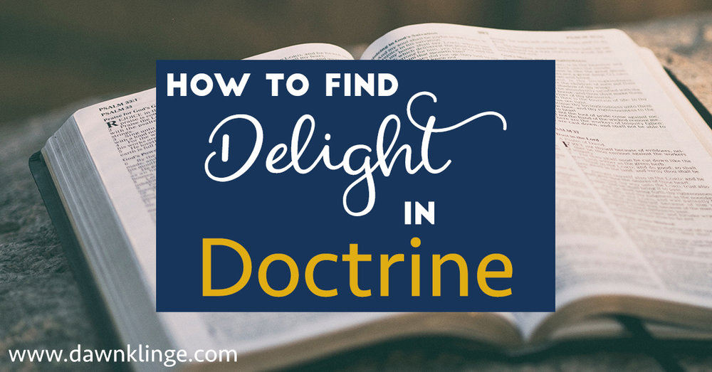 Delight in Doctrine Series