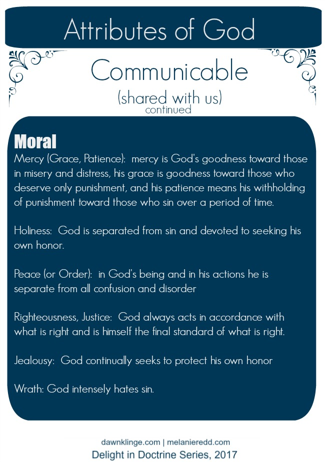 attributes of God, 3