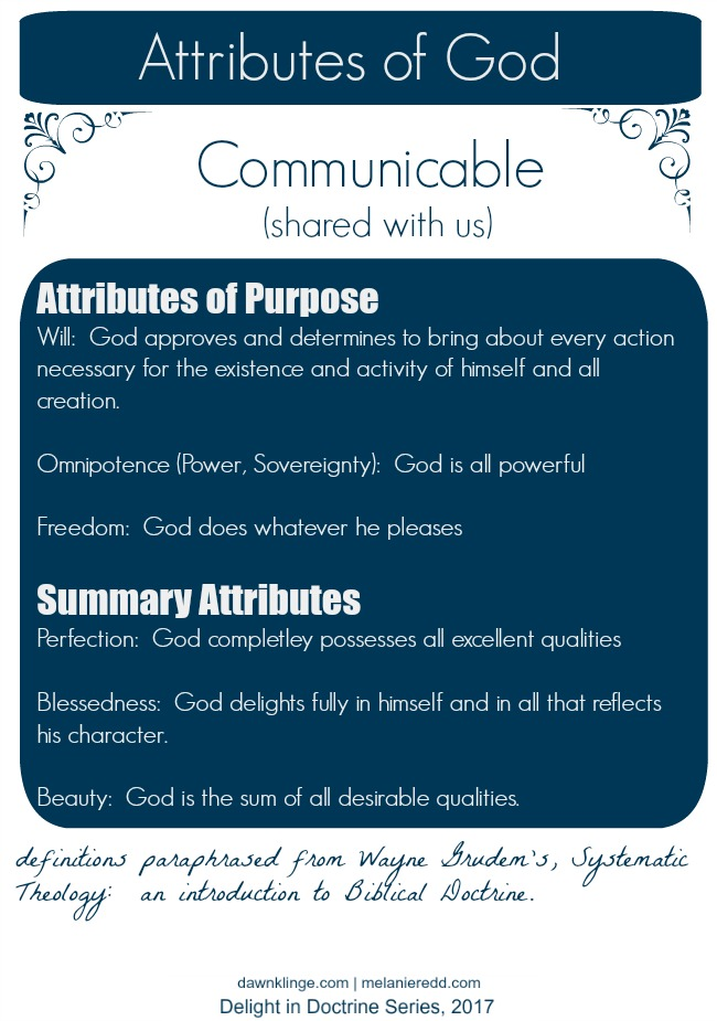 attributes of God, 4