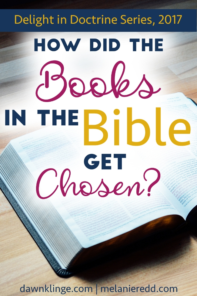 how did the books in Bible get chosen?