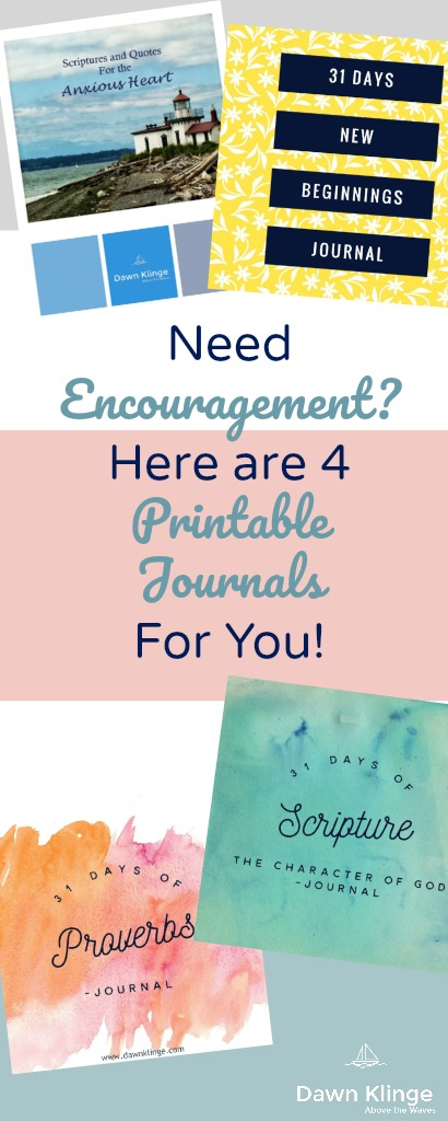 4 free printable journals Christian encouragement