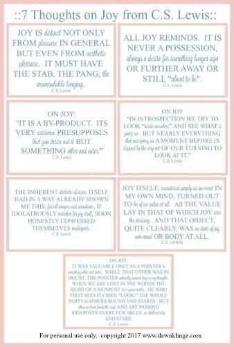 7 thoughts on joy free printable