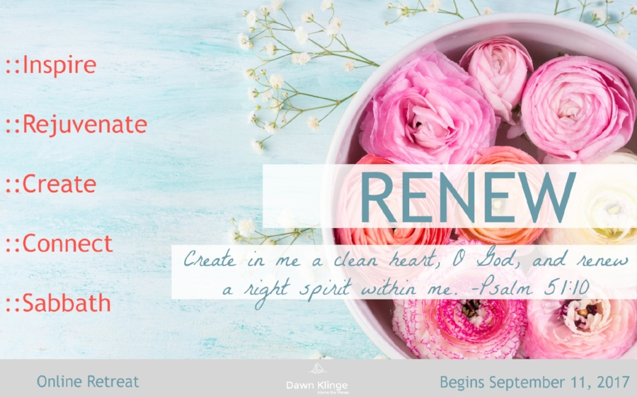 Renew online retreat