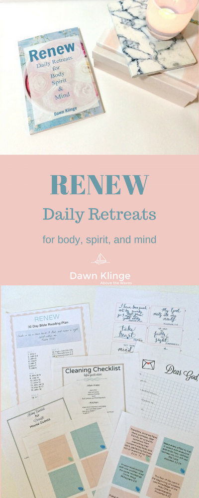 renew daily retreats for body, mind, and spirit I online Christian retreat I ideas for self-care I Christian women's retreat I renewal I Above the Waves II #onlineretreats #devotional