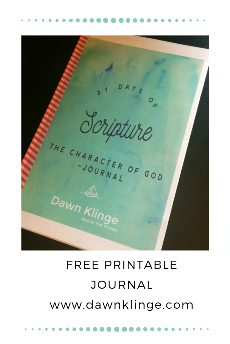 The Character of God (free printable) journal | #freeprintable #devotion