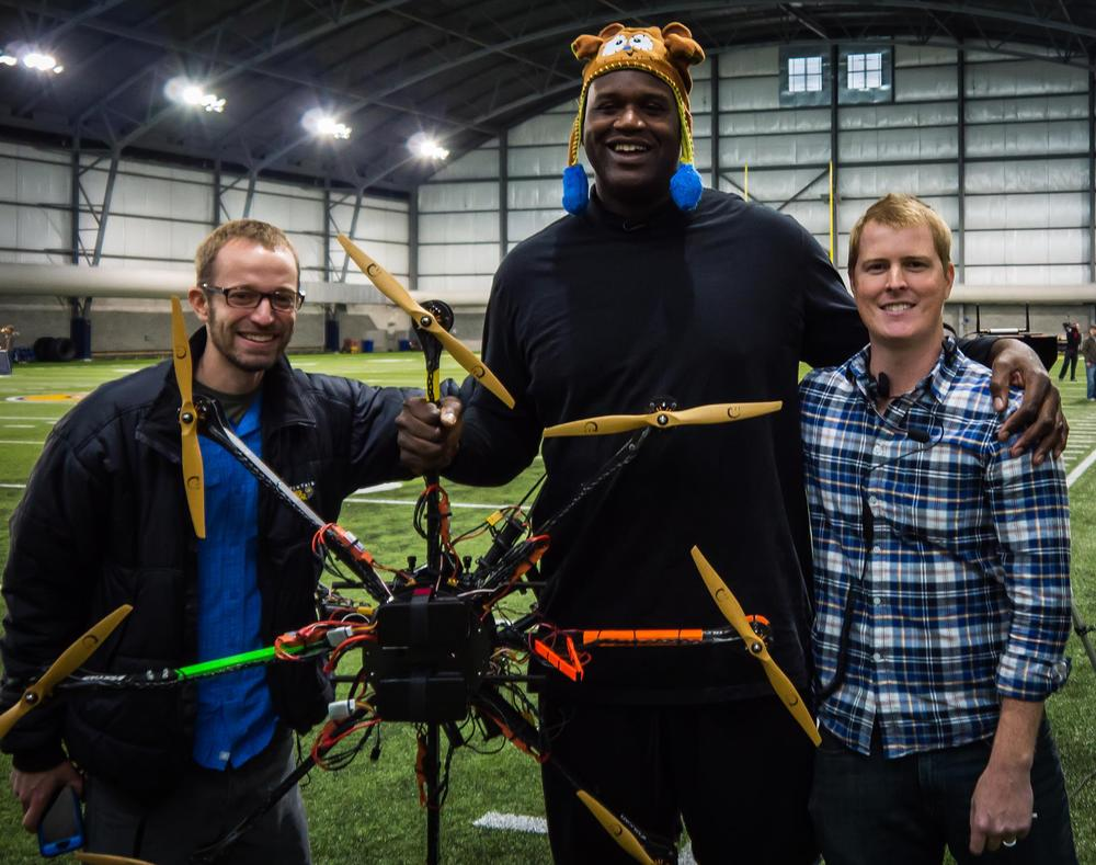 A fun day of flying with Shaq and a few other NBA greats.