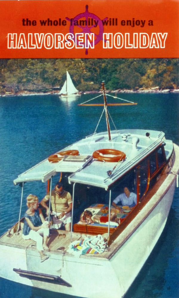 A brochure, advertising the benefits of a Halvorsen Boating holiday, synonymous with The Hawkesbury River and The Kuringai Chase National Park for many years.
