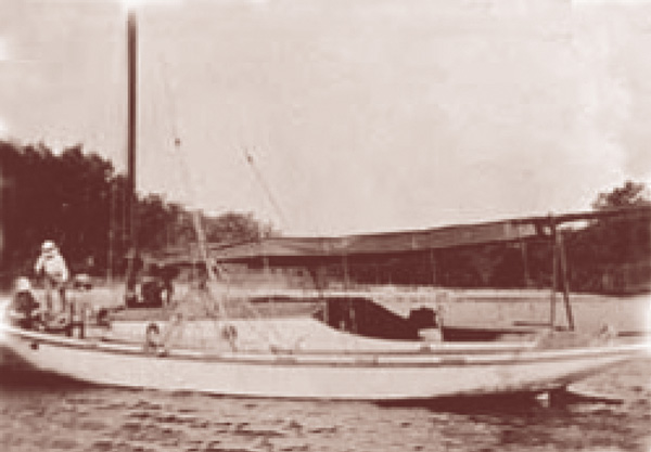 "The ""Superb"" the first boat commissioned to Norman Wright."