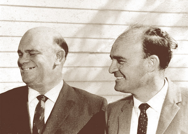 Norman J Wright and Ron Wright after receiving their MBE's in 1962.