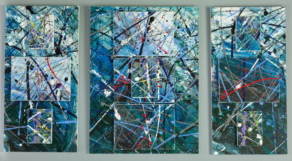 """Fathom: First in the elemental series"" 2009, acrylic on canvas, 24""x48"""