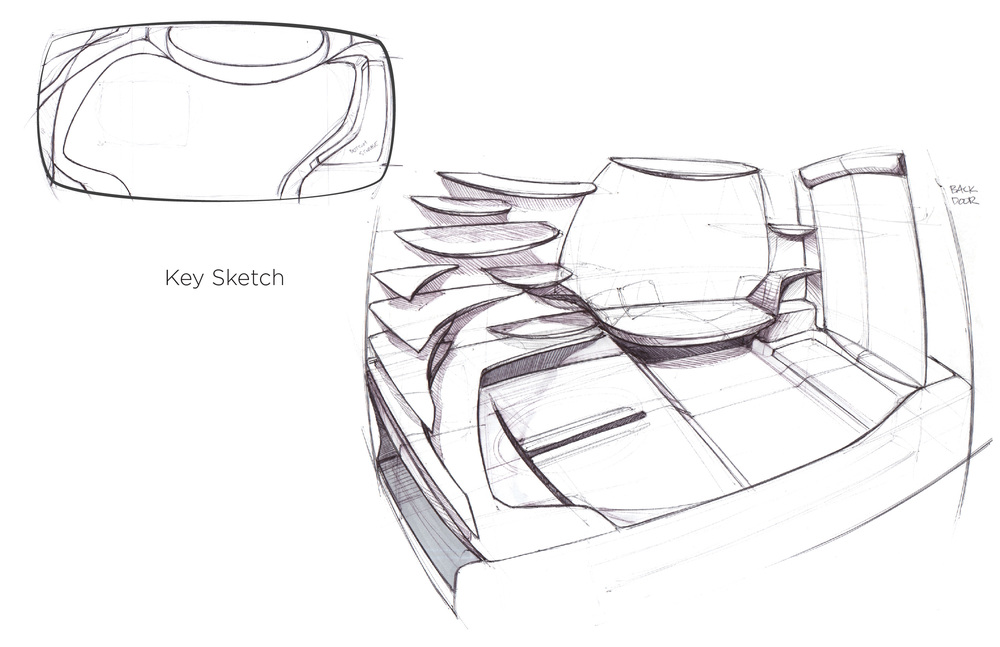 The basic design concept for the interior