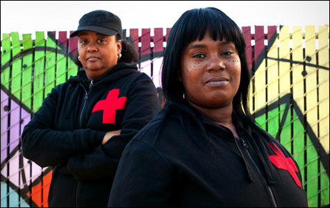 Lesley Philips and Sharena Thomas of The People's Community Medics.  Photo: Sara LaFleur-Vetter.