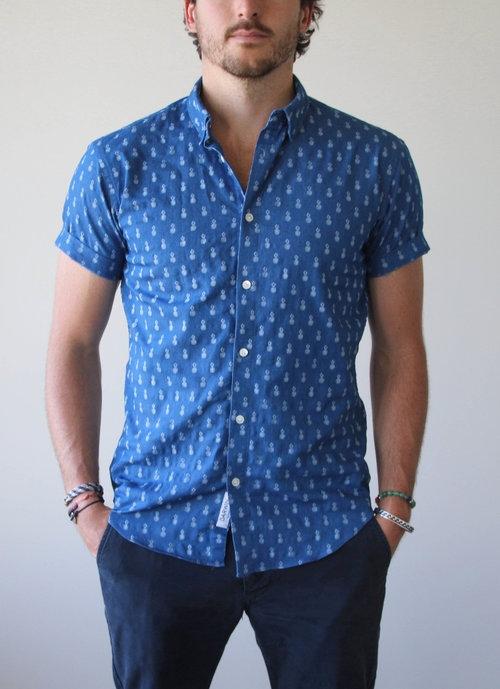 Spring & Summer '17 - Light Blue Pineapple Short Sleeve Button Down$150100% Cotton
