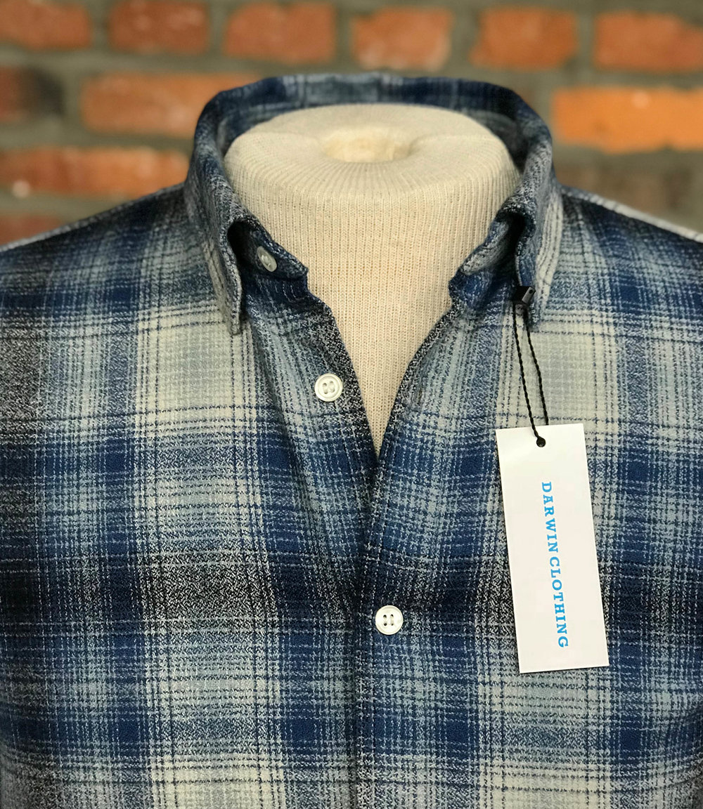 Fall & Winter '18 - Smokey Blue, Black Grey Checkered Flannel $225100% Cotton