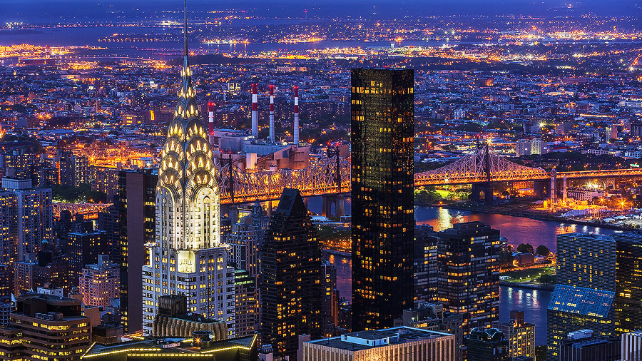 The Chrysler Building in New York City, New York, USA