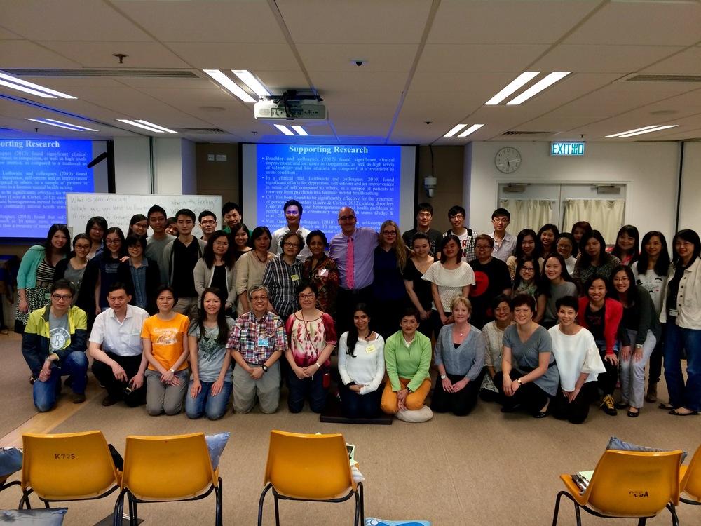 Dr. Tirch and Dr. Silberstein training CFT psychotherapists in Hong Kong, 2014
