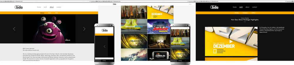 Producer, website design and build for BDA Creative, London 2013