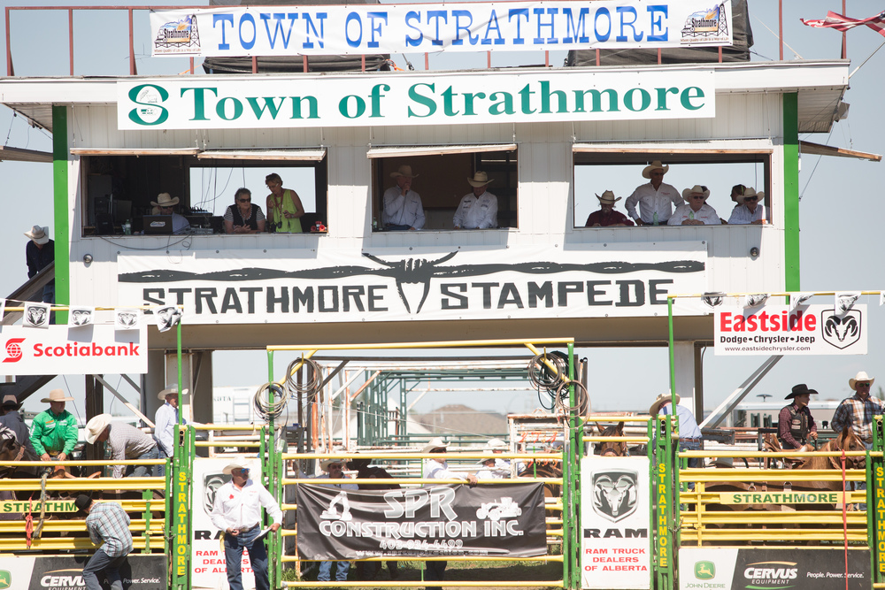 Thank you to the Town of Strathmore for sponsoring the Announcers Booth, Strathmore Wagon Driver Buckle and a Timed Event Chute.