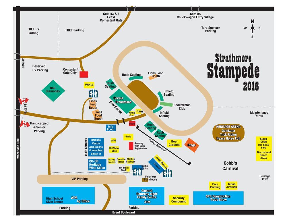 Stampede Grounds Map 2016 Strathmore Stampede Grounds Map — Strathmore Ag Society Stampede Grounds Map