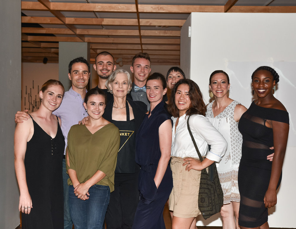 Lucinda with the cast