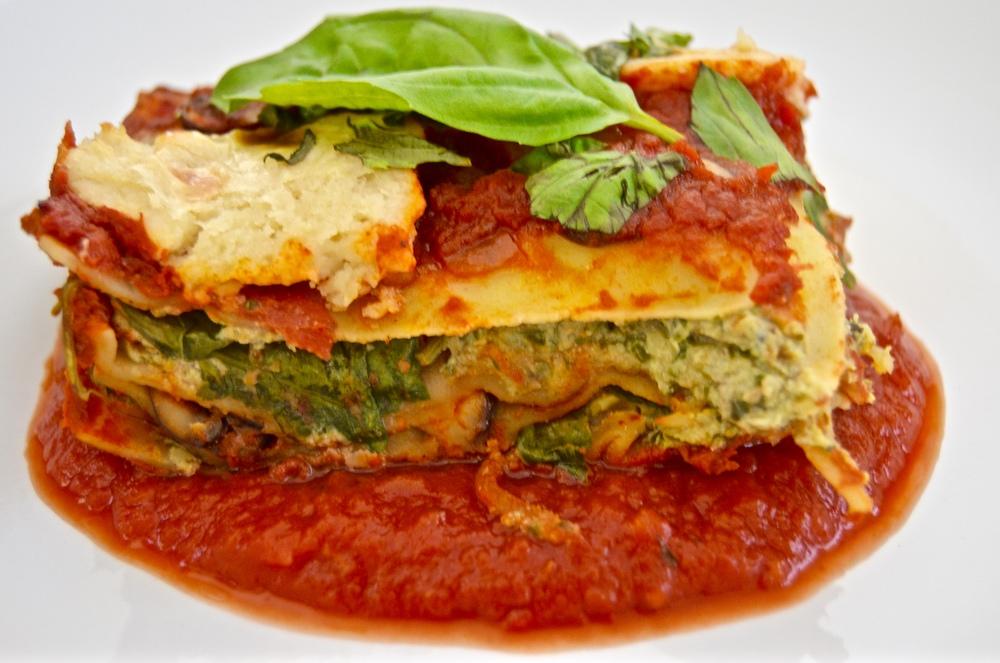 Garden Lasagna with Chunky Tomato Sauce