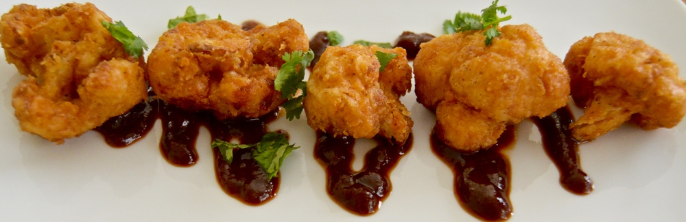 Southern California Fried Cauliflower Florets w/ Smoky BBQ Sauce