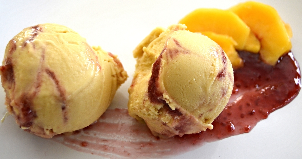 Peach Melba Ice Cream
