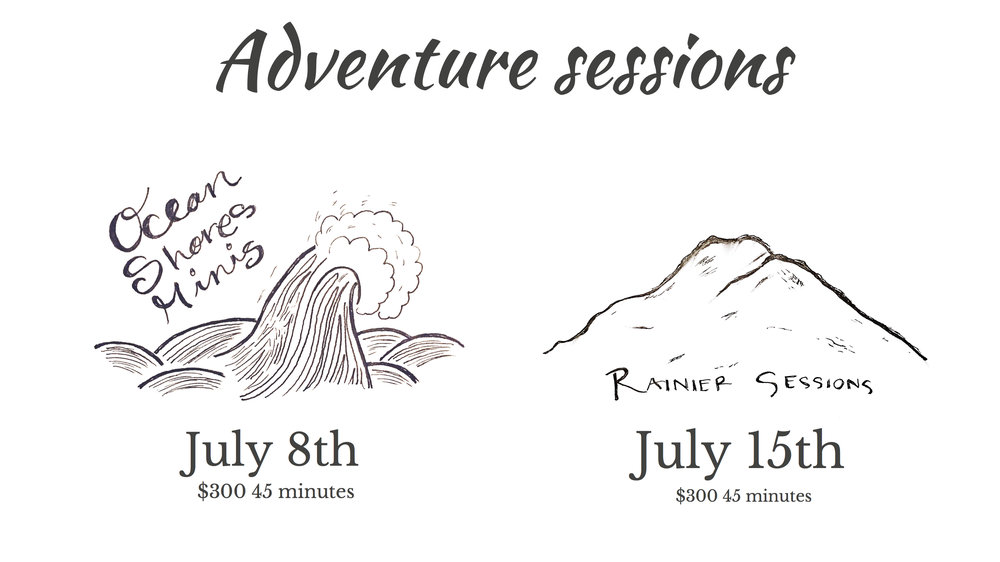 This is your chance to take your family on an adventure and have amazing pictures taken while you're there.   Now comes the hard part, deciding where. The ocean or the mountain?  If this sounds like your jam then email me along with sending a $150 deposit to save your spot. These sessions are going to go quickly and I'm only offering a limited amount so book it soon.    Email: melissashaw@mac.com