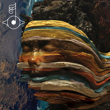 """She's a Rainbow."" The cover art for the Biophilia remix album, Bastards (get it?), reminds us of the multicolored strata of Zhangye Geology Park in north-central China. The above image essentially is an outtake from the video for Björk's ""Mutual Core (Matthew Herbert's Teutonic Plates Mix),"" also from Biophilia, which makes a sensuous mess of earthy delights."
