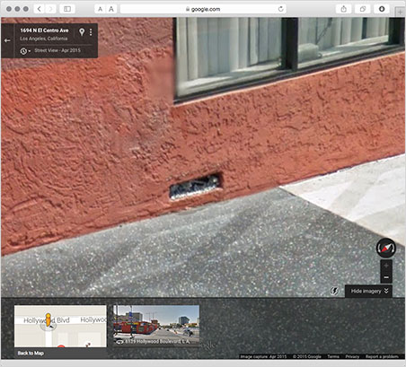 After.  Is silver Urban Geode #12 still intact in this Google Maps image?